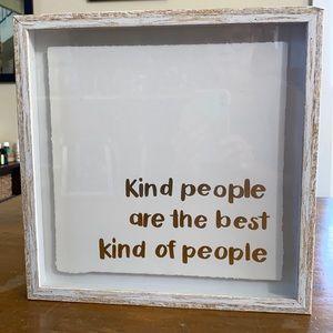 Kind People Decorative Wall Art Framed Motivation